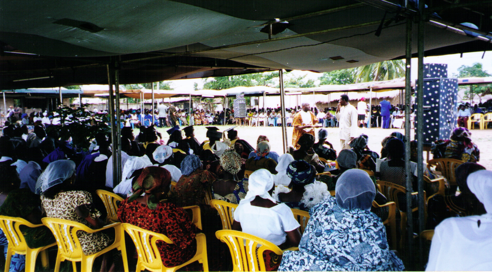 Apostle McFarlane Preaching at an Open Air Crusade in the Mission to Ghana