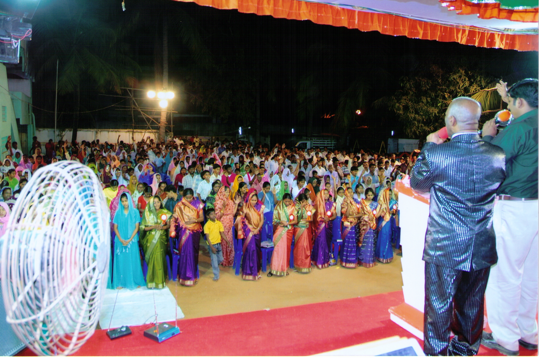 Apostle McFarlane Preaching with An Interpreter at the Mission to India 2008