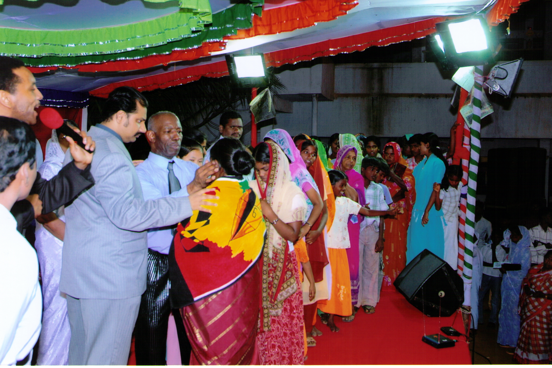 Apostle McFarlane with Bishop Jabez Praying for The Sick during the Mission to India 2008