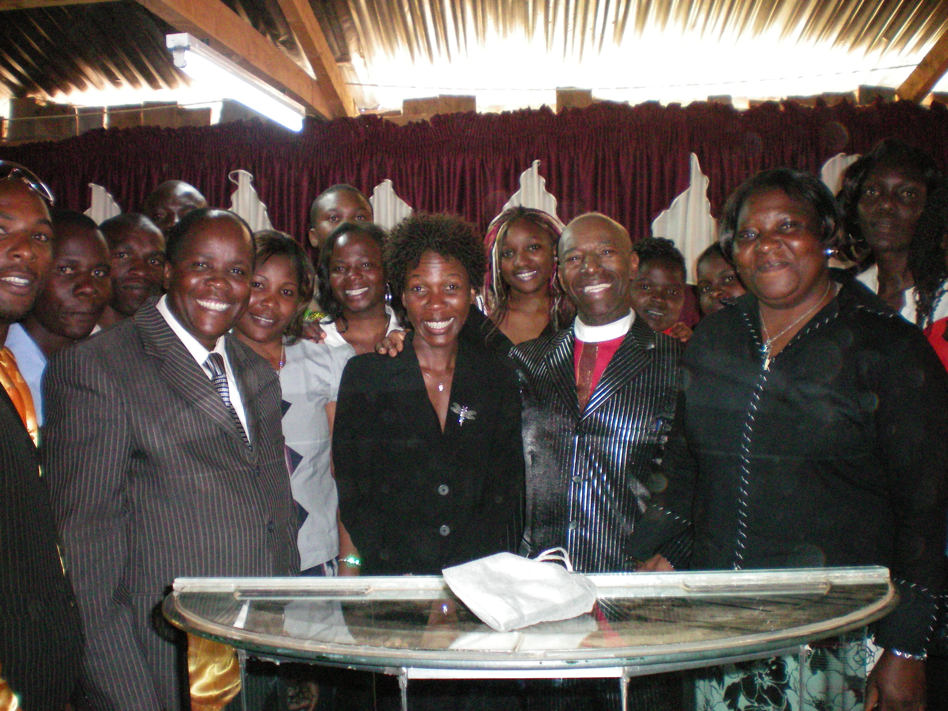 Apostle McFarlane with some of BOTR Kenya's Leaders