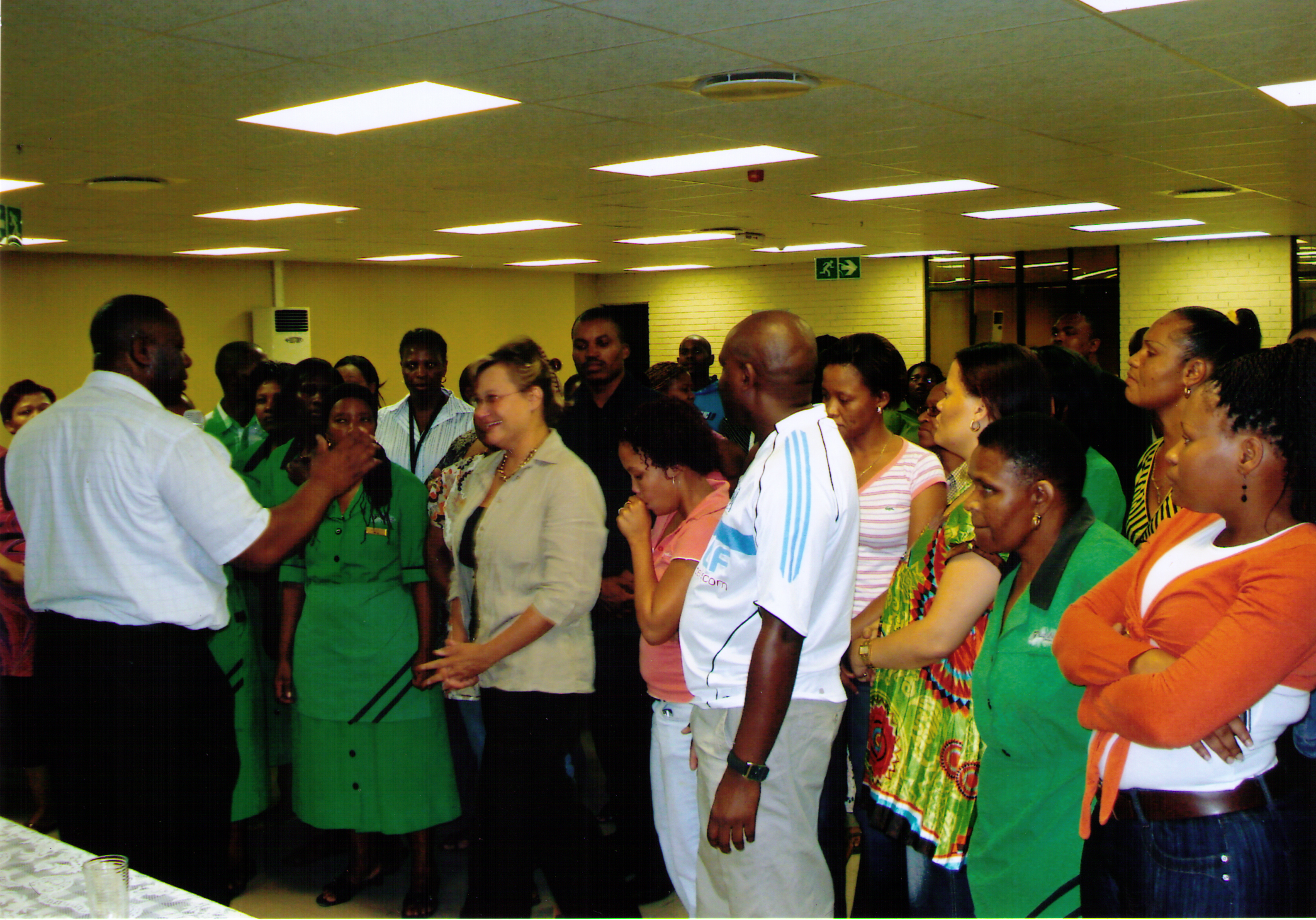 District Elder Thomas preaching during the Mission to South Africa 2008