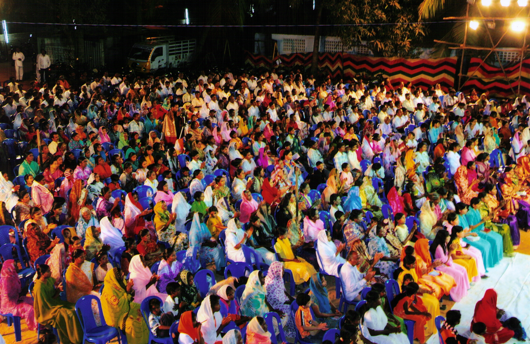 The Crowd That Gathered at The Crusade Ground During the Mission to India 2008