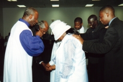 Apostle McFarlane Officiating a Conscrecation & Ordination Service at Our Holy Convention