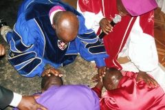 Apostle McFarlane Officiating a Consecration & Ordination Service in Uganda