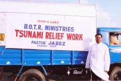 Bishop John Jabez, BOTR India with BOTR Tsunami Relief Van